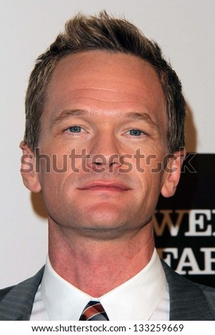 Neil Patrick Harris at the L.A. Gay And Lesbian Center Hosts 'An Evening' honoring Amy Pascal and Ralph Ricci, Beverly Wilshire, Beverly Hills, CA 03-21-13 - stock photo