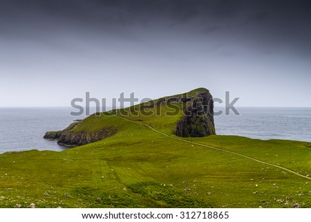 Neist Point, isle of Skye, Scotland - stock photo