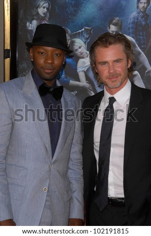 "Nelsan Ellis and Sam Trammell at HBO's ""True Blood"" Season 3 Premiere, Cinerama Dome, Hollywood, CA. 06-08-10"