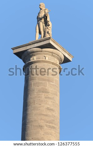 Nelson's Column in Old Montreal, Quebec, Canada - stock photo