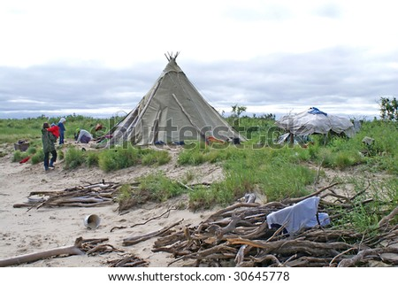 nentsy camping-ground - stock photo