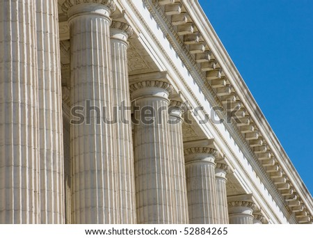 Neoclassic building architectural details - stock photo