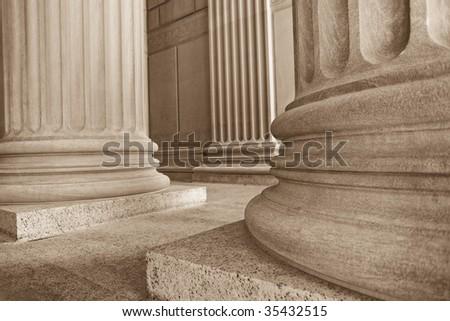 Neoclassical Columns - stock photo