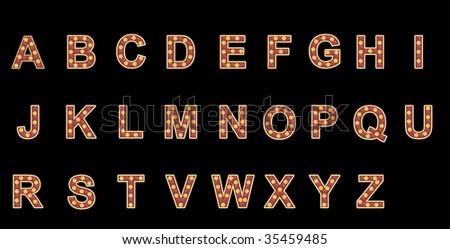 Neon Alphabet - stock photo