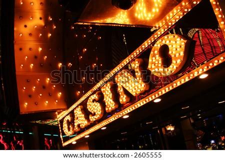 Neon casino sign. - stock photo