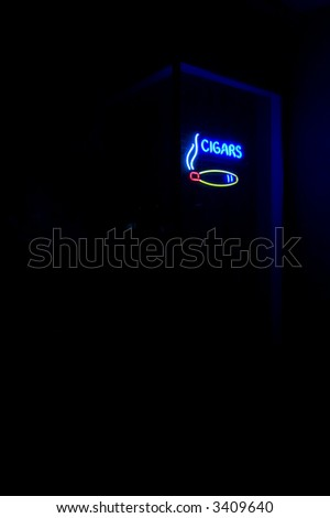 Neon Cigar Store Sign - stock photo