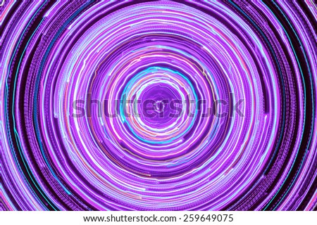 Neon Glowing Circle - stock photo
