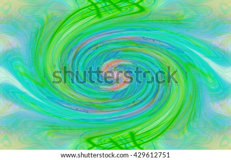 Neon green pink orange red twirl twist spin spiral abstract art lines circles tear drops  bright background backdrop pattern modern unique wave - stock photo