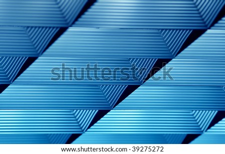 Neon lamp detail in blue tone - stock photo