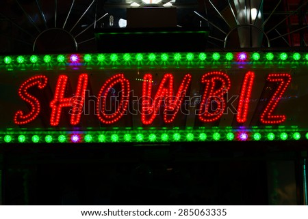 Neon Ghost Train Sign Stock Photo 12221851 Shutterstock