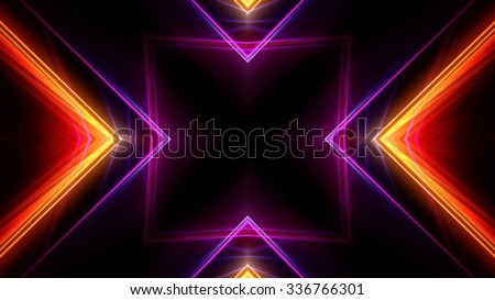 Neon lights symbol background