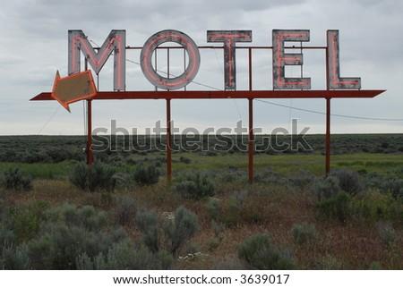 Neon Motel Sign - stock photo