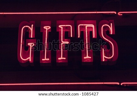 Neon Sign - stock photo