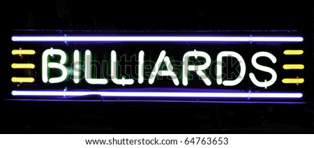 Neon sign in store window - stock photo