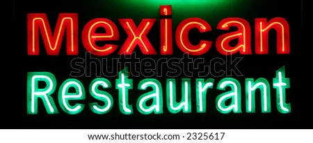 Neon Sign -Mexican Restaurant