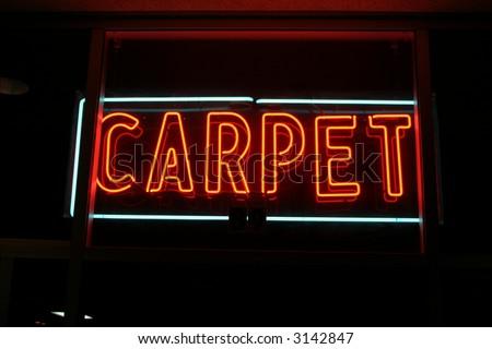 Neon Sign series  carpet - stock photo