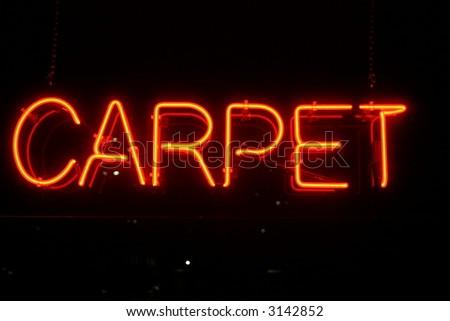 "Neon Sign series  ""carpet"" - stock photo"