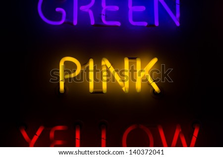 Neon Sign spelling Pink - stock photo