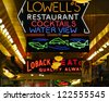 Neon signs, Pike Place Market. - stock photo