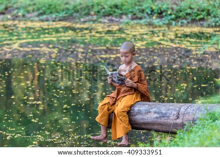 Neophyte reading a book.