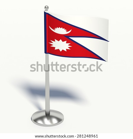 Nepal 3d illustration on a white background. - stock photo