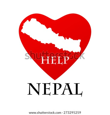 Nepal earthquake - stock photo