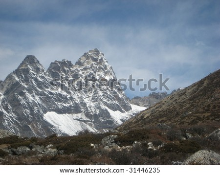Nepal - Everest Nepal - Everest - stock photo