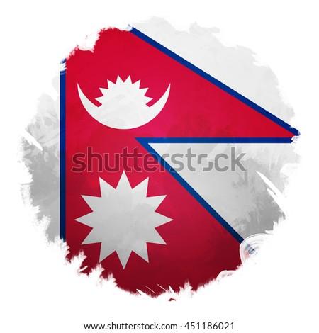 Nepal flag, digital art effect. - stock photo