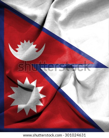Nepal flag. illustration
