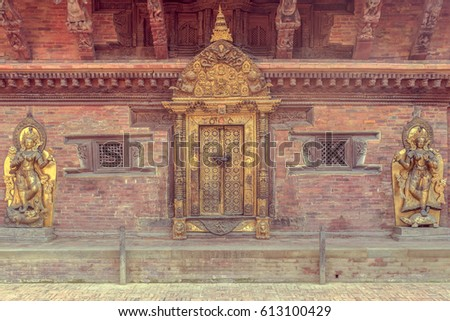 Nepal goddess temple in Patan,Nepal