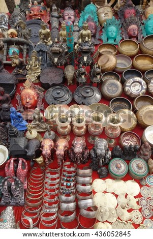 Nepal. local shop and objects.