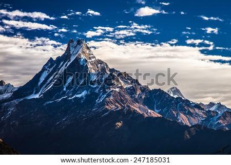 Nepal Machhapuchhre , Himalayas, Nepal - stock photo
