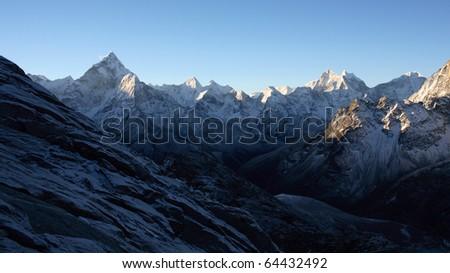 Nepalese mountain ,Ama-Dablam - stock photo
