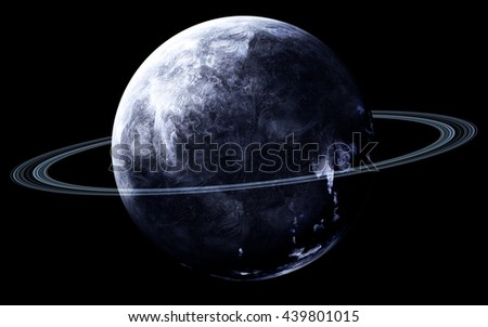 Neptune - High resolution 3D images presents planets of the solar system. This image elements furnished by NASA