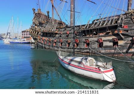 Neptune in Genoa - stock photo