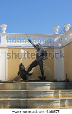 Neptune's sculpture in Tallinn in Estonia - stock photo