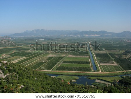Neretva River Valley, Croatia