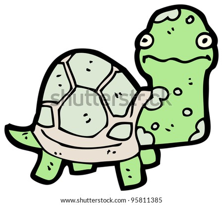 nervous tortoise cartoon