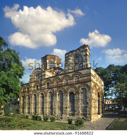 Nesebar cathedral, Bulgaria, UNESCO World Heritage Site - stock photo