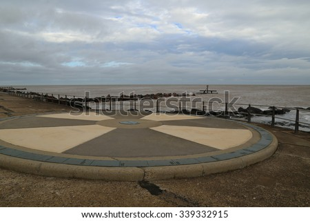 Ness Point, a landmark built on the beach at England's most easterly point in a small town called Lowestoft.