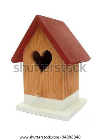 Nest box birdhouse house for birds - stock photo