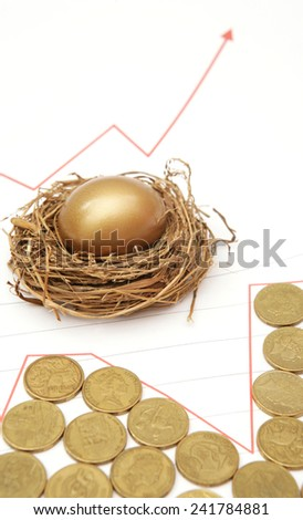 Nest Egg with Coins and Graph