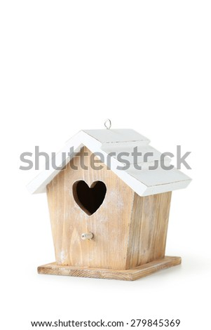 Nesting box isolated on a white - stock photo
