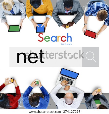 Net Accounting Earning Bookshopping Online Concept - stock photo