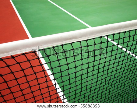 Net and court - stock photo