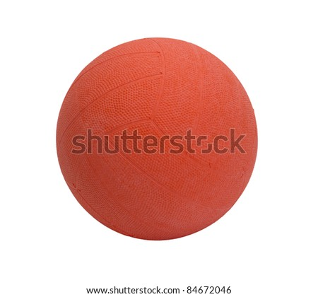 Net ball on white background