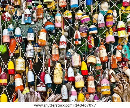 Net Buoy Heaven - stock photo