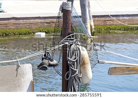 net fishermen - stock photo