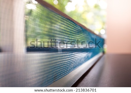 Net for a table tennis - stock photo