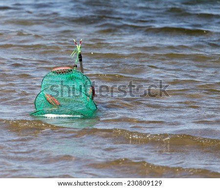 net for fish - stock photo